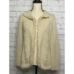 Chico's Wool Open Front Cardigan Sweater